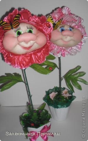 Мои цветочки))))Делала на выставку.Месяц назад.Пиончики фото 1