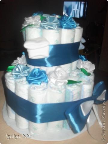 Это мой первый и пока единственный тортик (надеюсь, не последний!). Делала в подарок друзьм для их двухмесячного малыша.  фото 3