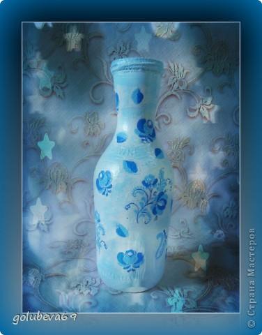 Вазочка декорирована макаронными изделиями, цветочками из пластики и бусинками. фото 5