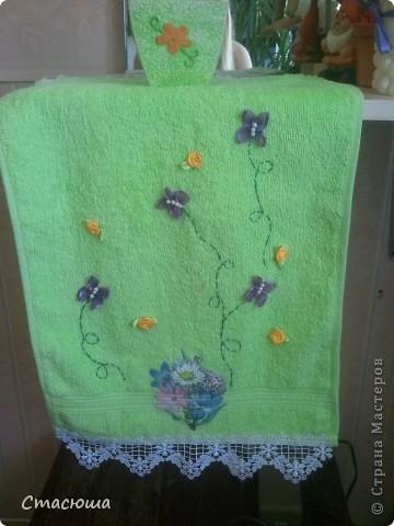 Бабочки на полотенце фото 2
