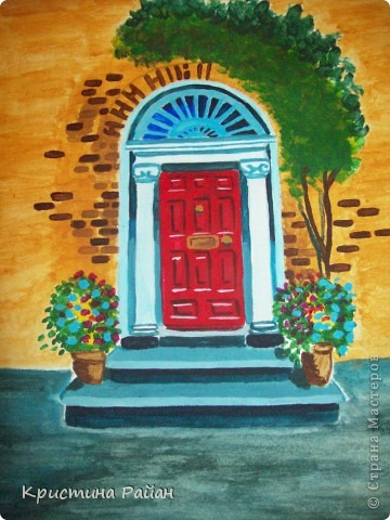 Дублин знаменит своими яркими дверями всевозможных цветов. На рисунке одна из них. фото 1