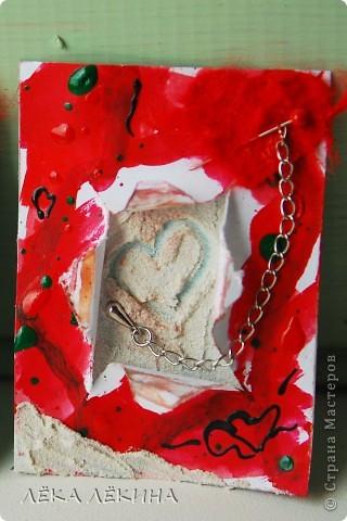 """Первая мини-серия """"Облака"""". Я все продолжаю экспериментировать с текстурными пастами. Я от них просто в восторге! Хочется творить и творить...покажу последнюю серию АТС ...Основа картон,текстурная паста с песком,  акварель, акрил фото 8"""