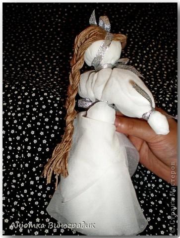 Смастерила куколку без иголки. Использовала МК : http://stranamasterov.ru/node/381983 фото 3