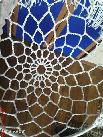 Интерьер Мастер-класс Вязание крючком Макраме Плетение мастер класс по плетению кресла часть 1 Шпагат фото 9