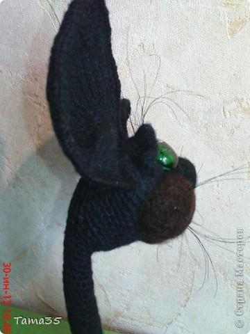 Котик связан крючком. Носик и щеки валяные. фото 6