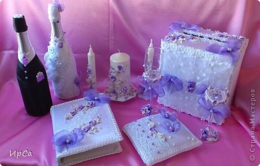 Свадебный набор сиреневый фото 1