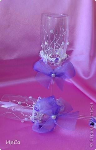 Свадебный набор сиреневый фото 5