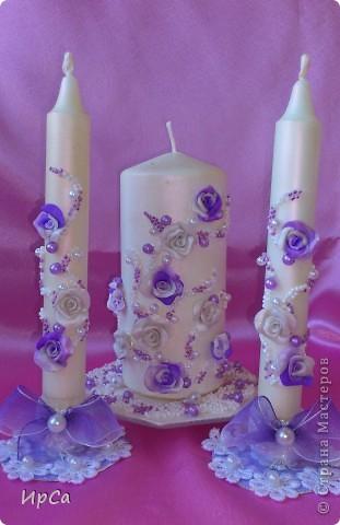 Свадебный набор сиреневый фото 6
