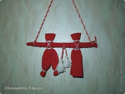 """Представляю вам свою коллекцию обрядовых,обереговых и игровых кукол.  Кукла """"Красота"""" - это обрядовая кукла,её шили специально для свадьбы,ставили на большой поднос и обносили гостей,собирая дары. Использовали ткани ,нитки ,ленты исключительно красного цвета. фото 16"""