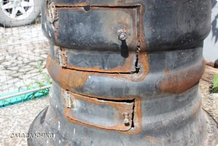 Муж смастерил печь. Из диска от колеса КАмаза. И в поиске плова на открытом огне попала в блог cook.mihalko , где всё было расписано от и до.... кроме плова, много интересных и лёгких блюд - http://stranamasterov.ru/node/377618?c=favorite. cook.mihalko ,спасибо огромное за рецепт! Ну а теперь немного о нашей печки - по фотографиям,я думаю, поймёте как её изготовить.... фото 3