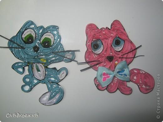 Вот таких вот котиков-магнитиков я сделала. Не знаю понравиться кому нибудь или нет....но решила выложить, узнать ваше мнение) фото 1