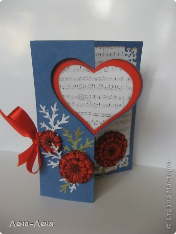 Сегодня я предлагаю вам сделать две открытки с сердечками. Фото будет много, чтоб хорошо рассмотреть её со всех сторон, так что наберитесь терпения.  фото 1
