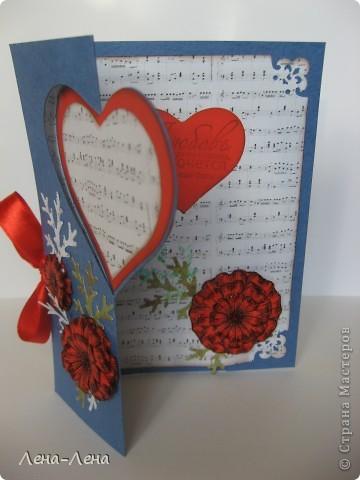 Сегодня я предлагаю вам сделать две открытки с сердечками. Фото будет много, чтоб хорошо рассмотреть её со всех сторон, так что наберитесь терпения.  фото 2