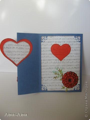 Сегодня я предлагаю вам сделать две открытки с сердечками. Фото будет много, чтоб хорошо рассмотреть её со всех сторон, так что наберитесь терпения.  фото 3