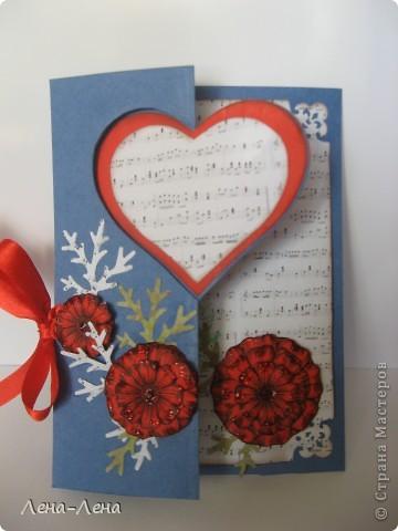 Сегодня я предлагаю вам сделать две открытки с сердечками. Фото будет много, чтоб хорошо рассмотреть её со всех сторон, так что наберитесь терпения.  фото 4