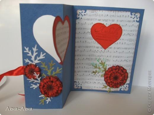 Сегодня я предлагаю вам сделать две открытки с сердечками. Фото будет много, чтоб хорошо рассмотреть её со всех сторон, так что наберитесь терпения.  фото 6