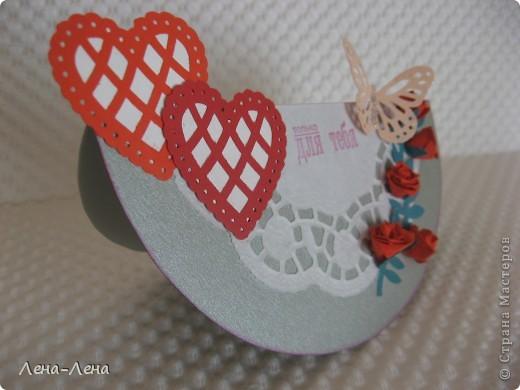 Сегодня я предлагаю вам сделать две открытки с сердечками. Фото будет много, чтоб хорошо рассмотреть её со всех сторон, так что наберитесь терпения.  фото 11