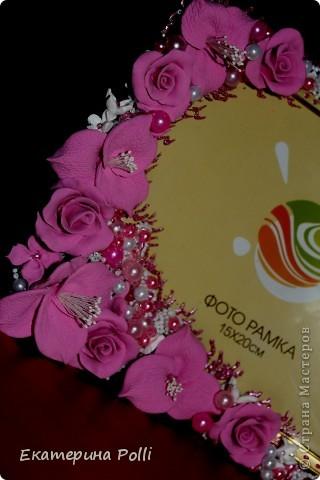 "Свадебная рамочка ""Аромат роз""  фото 3"