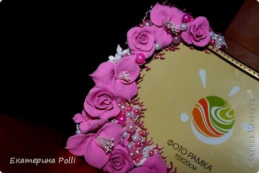 "Свадебная рамочка ""Аромат роз""  фото 5"