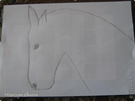 Здравствуйте, мастера и мастерицы. Сегодня и расскажу вам как просто нарисовать коня карандашом. фото 3