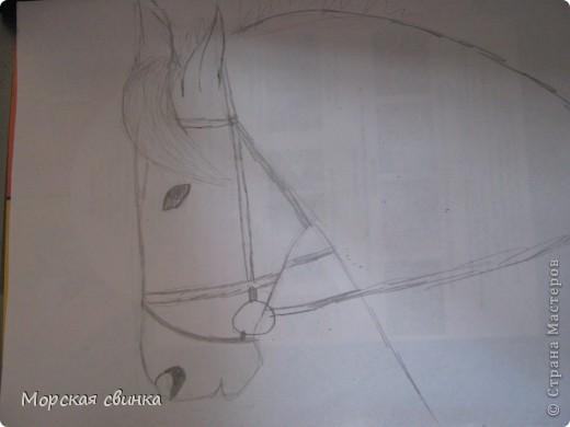 Здравствуйте, мастера и мастерицы. Сегодня и расскажу вам как просто нарисовать коня карандашом. фото 4