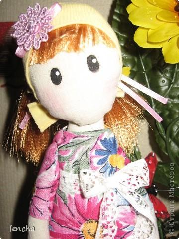 Здравствуйте, мои дорогие жители Страны Мастеров!!!!!!!!! Сегодня я к вам совсем не с топиарием, а с новой куколкой. Это девочка-Леночка по мотивам Вулкотт, за выкройку и МК огромное спасибо Наташе http://stranamasterov.ru/user/128221!!! фото 3