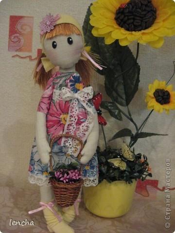 Здравствуйте, мои дорогие жители Страны Мастеров!!!!!!!!! Сегодня я к вам совсем не с топиарием, а с новой куколкой. Это девочка-Леночка по мотивам Вулкотт, за выкройку и МК огромное спасибо Наташе http://stranamasterov.ru/user/128221!!! фото 7