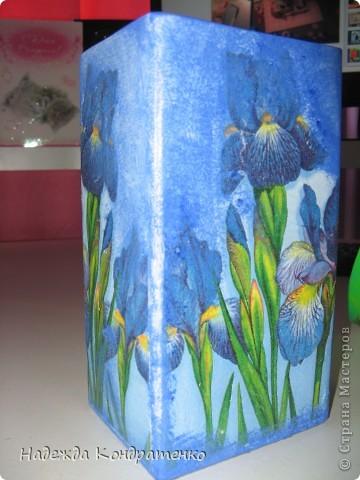 Ваза синие ирисы фото 2
