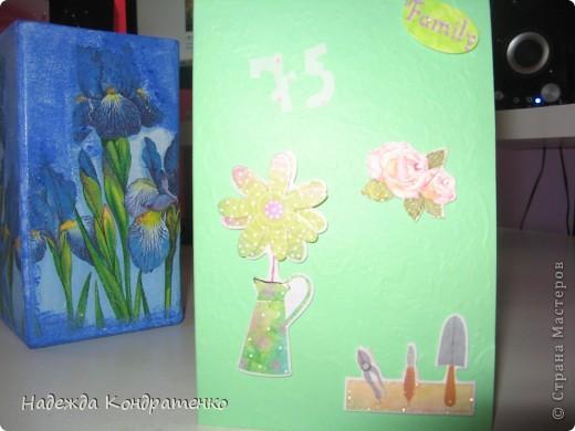 Срапбукинг открытка для бабушки фото 2