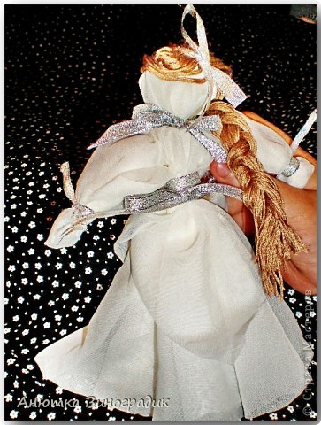 Смастерила куколку без иголки. Использовала МК : http://stranamasterov.ru/node/381983 фото 2