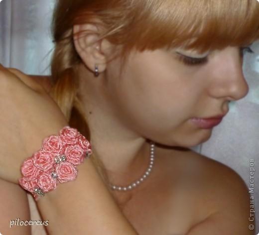 Первый раз пробовала делать браслет, не судите строго, вот что у меня вышло фото 2