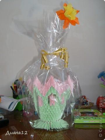 Вот такая красивая ваза получилось у меня !!!