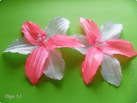 """Заколочки """"Маленькие лилии"""". Подарок для маленькой девочки. фото 1"""