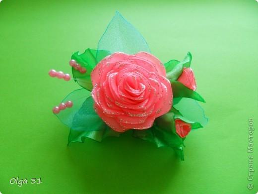 """Заколочки """"Маленькие лилии"""". Подарок для маленькой девочки. фото 4"""