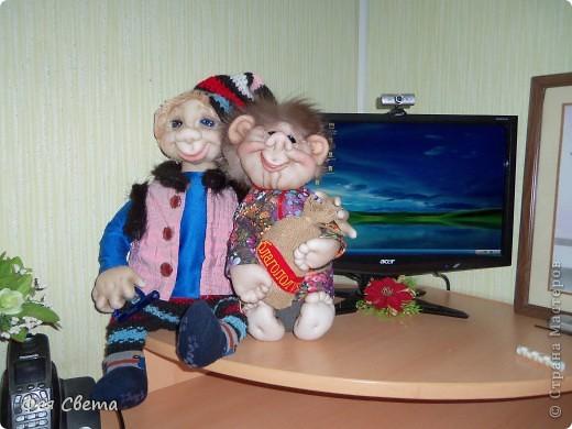 Идея Оксаны Третьяковой, но у меня домовенок на бутылке. фото 5