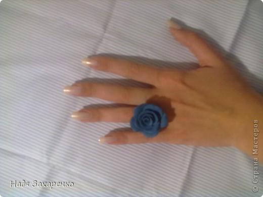 Синее колечко, подходящее на каждый день. фото 1
