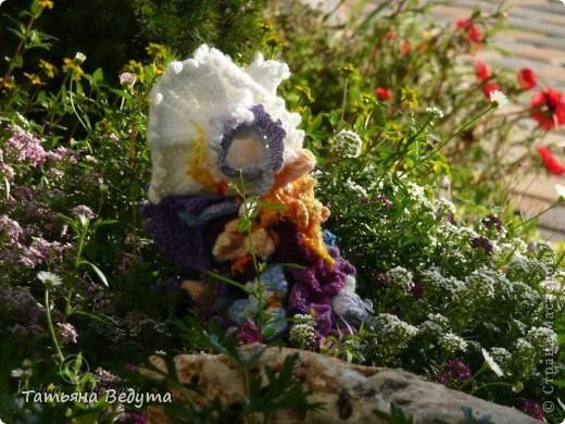 3 мои работы вместе -проект ландшафта , его исполнение- высадка растений  и ангелы  фото 15