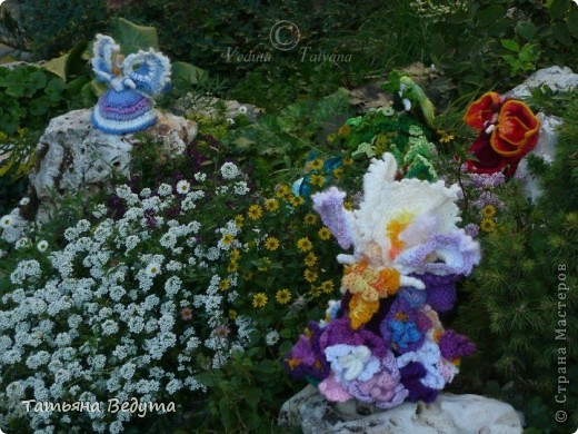 3 мои работы вместе -проект ландшафта , его исполнение- высадка растений  и ангелы  фото 6