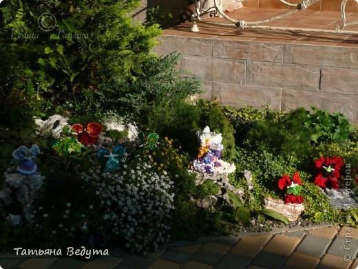 3 мои работы вместе -проект ландшафта , его исполнение- высадка растений  и ангелы  фото 7