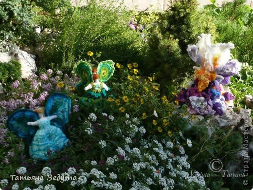 3 мои работы вместе -проект ландшафта , его исполнение- высадка растений  и ангелы  фото 9