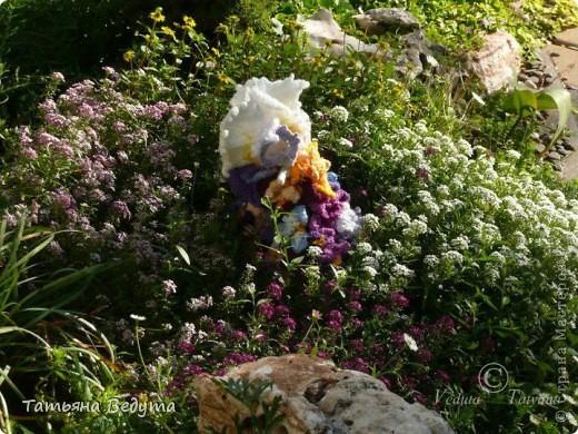 3 мои работы вместе -проект ландшафта , его исполнение- высадка растений  и ангелы  фото 24