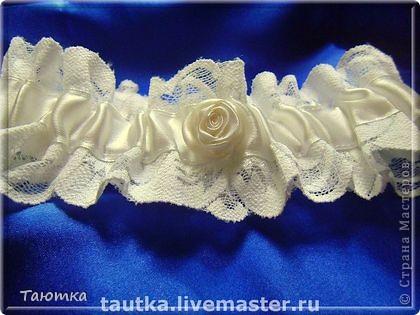 """Свадебная подвязка """"Айвори"""" фото 2"""