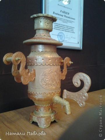 самовар из бересты, сделан на заказ. фото 1
