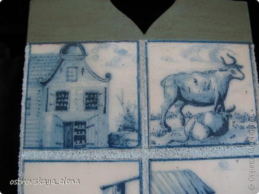 Имитация керамической плитки на деревянной поверхности. фото 7