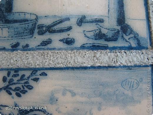 Имитация керамической плитки на деревянной поверхности. фото 8