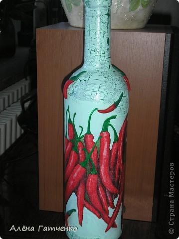 Вот получилась такая бутылочка.  фото 1
