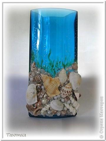 Долго не могла придумать, что сделать с вазочкой, но очень нравился цвет и форма необычная) Спасибо вдохновению, за очередное посещение)))  фото 1