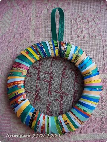 Поделка из конфетной обертки