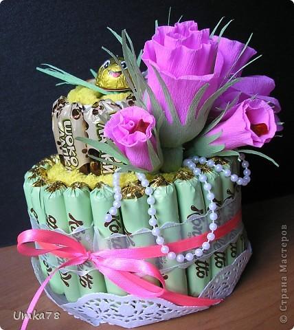 Доброго времени суток всем жителям Страны Мастеров! Представляю Вам свой конфетный тортик с начинкой.  фото 1