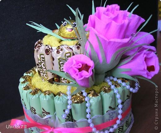 Доброго времени суток всем жителям Страны Мастеров! Представляю Вам свой конфетный тортик с начинкой.  фото 3
